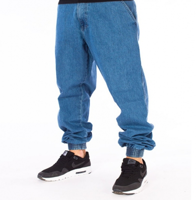 Spodnie EL POLAKO Ramki Regular Jogger Jasne Spranie