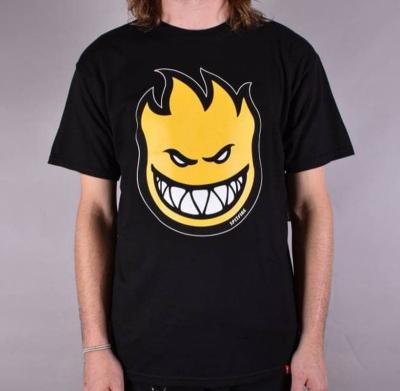 Koszulka SPITFIRE Bighead Fill Black/Yellow