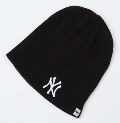 Czapka Zimowa 47 BRAND New York Yankees Czarna/Biała