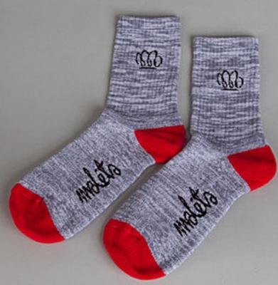Skarpetki Malita Yoda melange grey/red