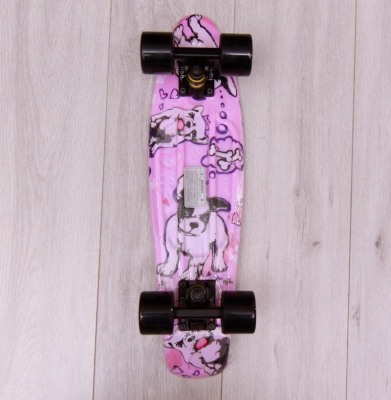 Deskorolka FISH SKATEBOARDS DOGS Black/Black