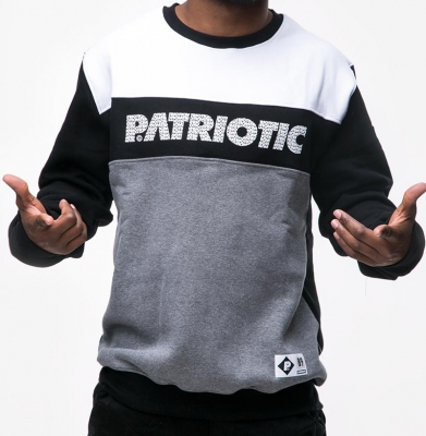 Bluza PATRIOTIC FONTS Grafit/Czarny/Biały