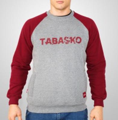 Bluza TABASKO SCRATCH Bordowo Szara