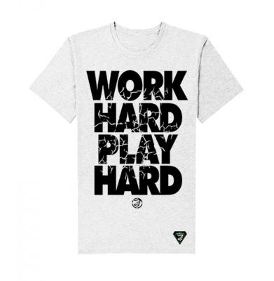 Koszulka GRUBE LOLO Work Hard Biała