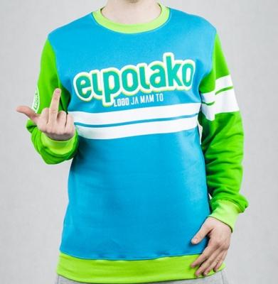 Bluza EL POLAKO DOUBLE LINE Zielona/Niebieska