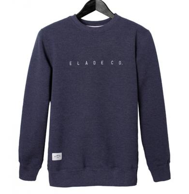 Bluza ELADE CREWNECK ZIP MINIMAL Logo Blue Jeans