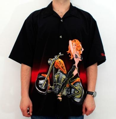 Koszula DRAGONFLY Harley Czarna