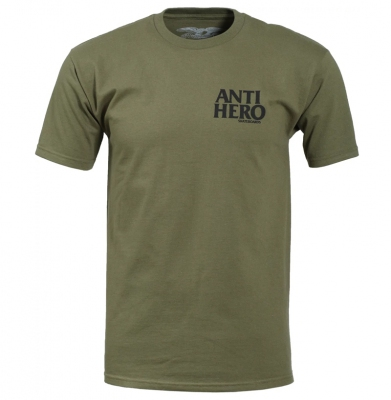 Koszulka ANTIHERO Lil Black Hero Military Green