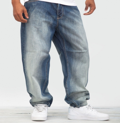 Spodnie ROCA WEAR Baggi Denim Mid Sand Blue Wash
