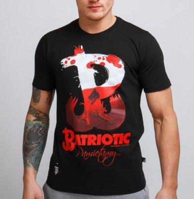 Koszulka PATRIOTIC PW Pamiętamy Czarna