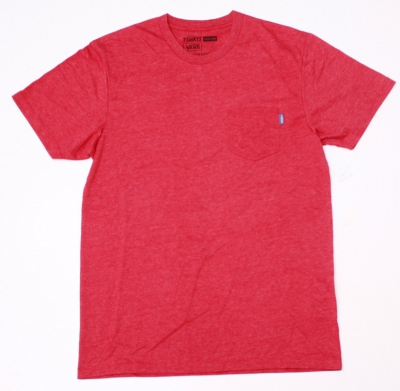 Koszulka VANS POCKET  HEATHER RED