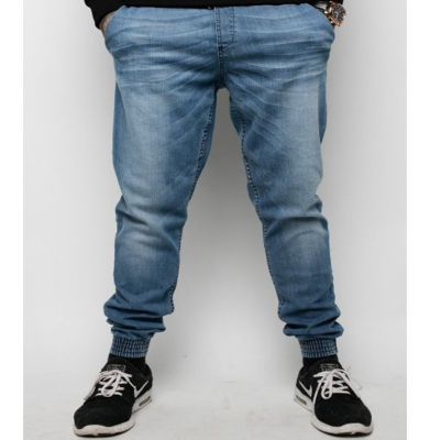 Spodnie DIAMANTE WEAR 'Jogger Jeans' Light Wycierane