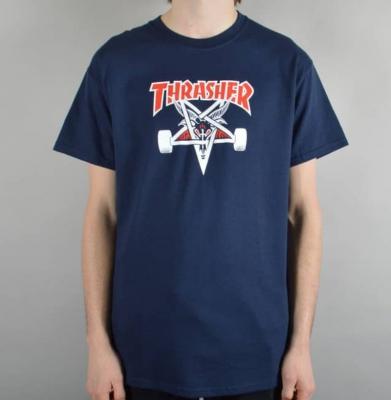 Koszulka THRASHER Two Tone SK8Goat Navy