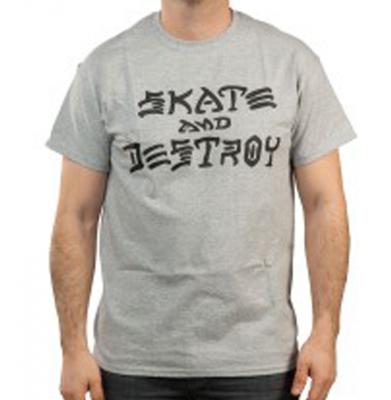 Koszulka THRASHER Skate And Destroy Grey