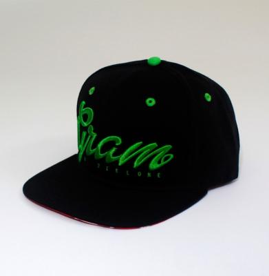 Snapback &GRAM Czarno/Zielony
