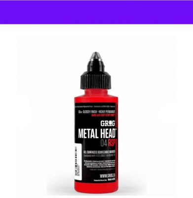 Marker GROG Metal Head 04 RSP Goldrake Purple 4mm