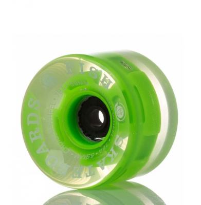 Kółka FISH Skateboards Cruiser z świecącymi diodami Green
