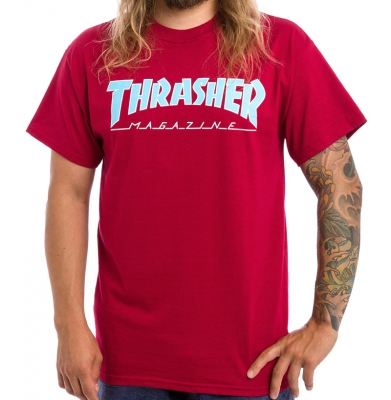 Koszulka THRASHER Outlined Cardinal Red