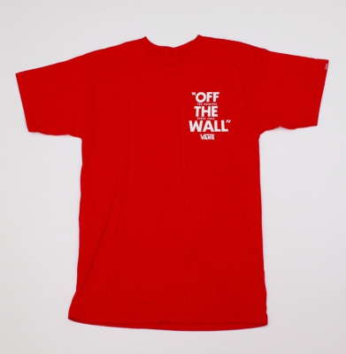Koszulka VANS OFF THE WALL RED