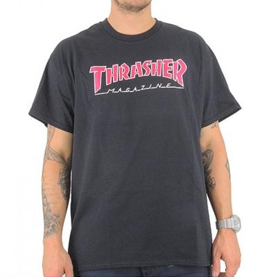 Koszulka THRASHER Outlined Black