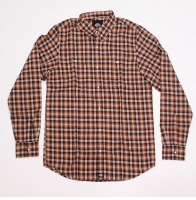 Koszula DICKIES GOODWIN BROWN/ORANGE