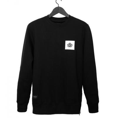 Bluza ELADE CREWNECK ZIP SCRIPT Black
