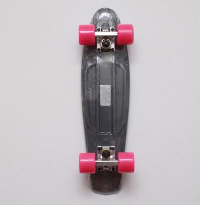 Deskorolka FISH SKATEBOARDS CLASSIC Grey/Silver/Pink