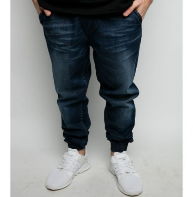 Spodnie DIAMANTE WEAR 'Jogger Jeans' Dark Wycierane