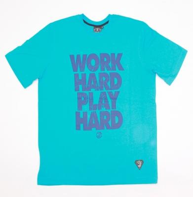 Koszulka GRUBE LOLO Work Hard Niebieska