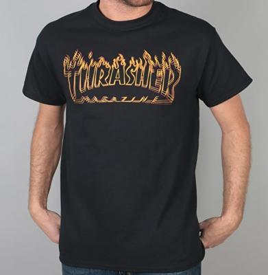 Koszulka THRASHER Richter Black