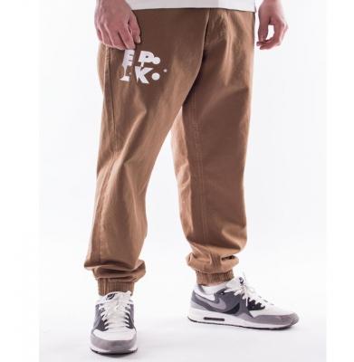 Spodnie EL POLAKO Elpk Jogger Regular Brązowe