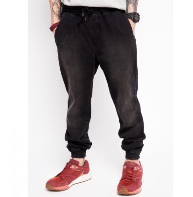 Spodnie DIAMANTE WEAR 'Jogger Jeans' Czarne