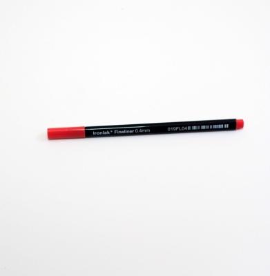 IRONLAK 0.4mm Fineliner Czerwony