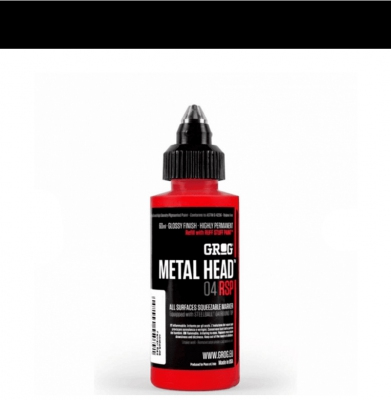 Marker GROG Metal Head 04 RSP Death Black 4mm