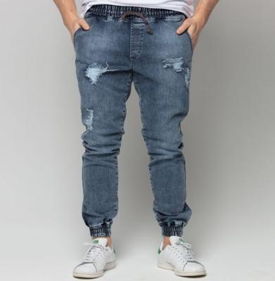 Spodnie DIAMANTE WEAR Jogger Ripped Blue Jeans