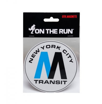 Magnez na lodówke ON THE RUN NYC MTA LOGO
