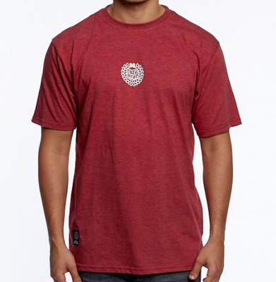 Koszulka MASS DNM Base Small Logo Heather Claret