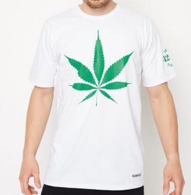 Koszulka DIAMANTE WEAR 'God Bless Weed' Unisex Biała