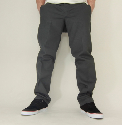 Spodnie DICKIES 873 SLIM STRAIGHT WORK PANTS Szare