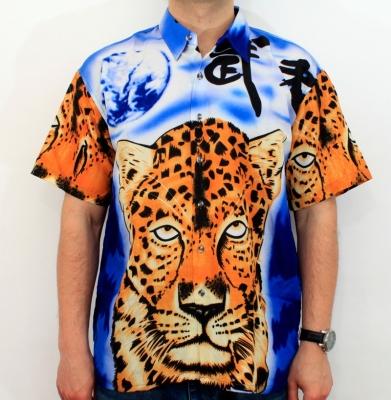 Koszula RICO Tygrys Zółto/Niebieska
