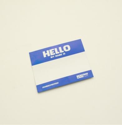 Naklejka MONTANA HELLO MY NAME IS Blue
