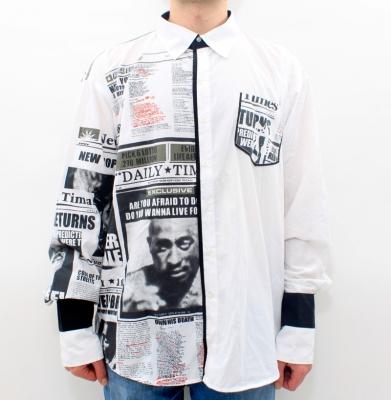 Koszula NYC Biało/Czarna