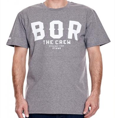 Koszulka BOR BORCREW THE CREW Szara