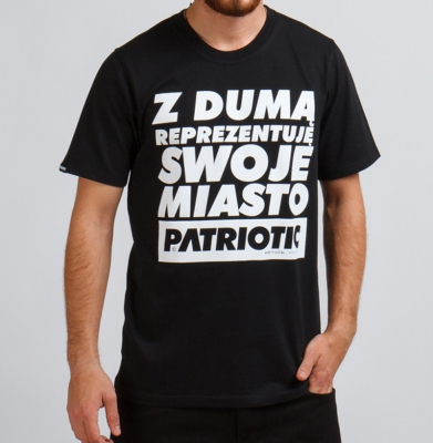 Koszulka PATRIOTIC Reprezentuje Czarna
