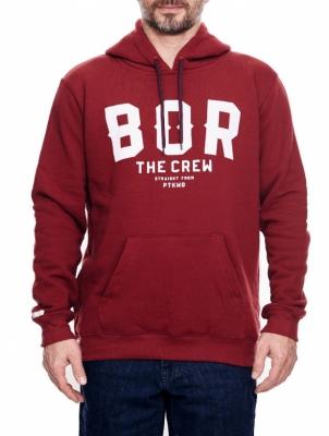 Bluza BOR BORCREW THE CREW Bordowa