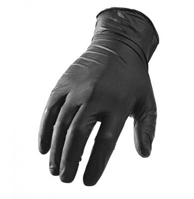 Rękawice, rękawiczki ochronne Ebony Black Nitrilowe Roz.M