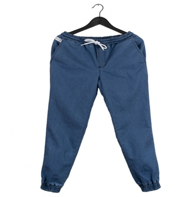 Spodnie ELADE JOGGER ICON MINI LOGO LIGHT BLUE DENIM