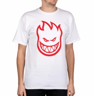 Koszulka SPITFIRE BIGHEAD White/Red