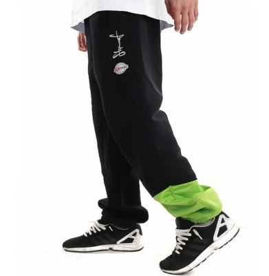 Spodnie Dresowe STOPROCENT UK RUNNER BLACK/GREEN