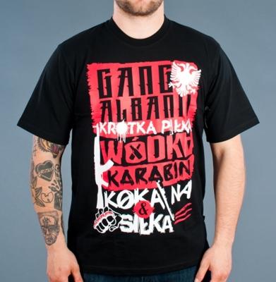 Koszulka GANG ALBANII Krótka Piłka Czarny